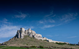 slott spissky slovakia arkivfoton