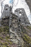 Slott STARY HRAD, Slovakien Fotografering för Bildbyråer