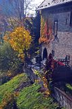 Slott Sternberk i hösten sun-2, Tjeckien Fotografering för Bildbyråer