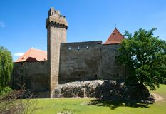 Slott Strakonice, Tjeckien Royaltyfria Foton