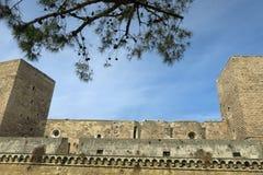 Slott Svevo av Bari Arkivbild
