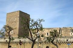 Slott Svevo av Bari Arkivfoton