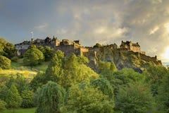 slott tidlösa edinburgh Fotografering för Bildbyråer