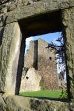 Slott till och med fönster Fotografering för Bildbyråer