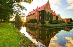 Slott Trolle-Ljungby på solnedgången Fotografering för Bildbyråer