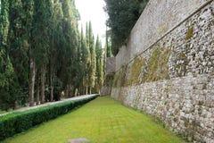 slott tuscany Arkivbild