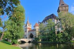 Slott Vaidahunyad i Budapest Royaltyfri Fotografi