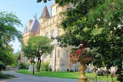 Slott Vajdahunyad i Budapest Arkivbilder