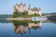 Slott Val, Frankrike Arkivbild