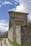 Slott Vigolo i Trentino i Italien Arkivbilder