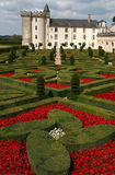 slott villandry france Royaltyfria Bilder