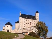 Slott Zamek Bobolice i Polen royaltyfri bild