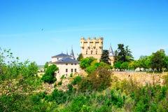 SlottAlcazar av Segovia, Castilla och Leon Royaltyfri Foto