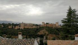 Slottar av Alhambraen i Granada, Royaltyfri Foto