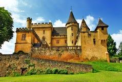 Slottar av Frankrike Puymartin Arkivfoton