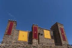 Slottar i landskapet av Huelva Cortegana, Andalusia Fotografering för Bildbyråer
