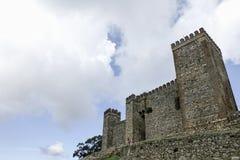 Slottar i landskapet av Huelva Cortegana, Andalusia Royaltyfri Bild