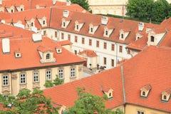 Slottar i liten stad Royaltyfria Bilder