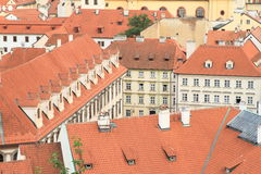 Slottar i liten stad Arkivbild