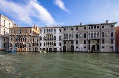 Slottar på Grand Canal, Venedig, Italien Royaltyfria Foton