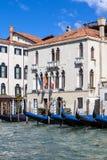 Slottar på Grand Canal, Venedig, Italien Fotografering för Bildbyråer