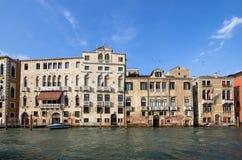 Slottar på Grand Canal, Venedig, Italien Arkivfoto