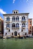 Slottar på Grand Canal, Venedig, Italien Royaltyfri Fotografi