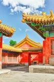 Slottar pagoder inom territoriet av Forbiddenet City funderar Fotografering för Bildbyråer