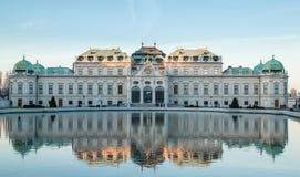 SlottBelvedere i Wien Arkivbild