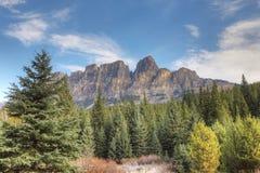 Slottberg i den Banff nationalparken, Alberta Arkivbild