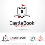 Slottbok Logo Template Design Vector Royaltyfri Fotografi