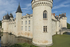 SlottChateau Dissay Frankrike Arkivbild
