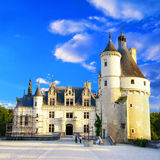 slottchenonseau Loire Valley Royaltyfri Foto