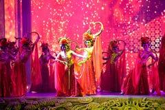 Slottdansarna--Den historiska magiska magin för stilsång- och dansdrama - Gan Po Royaltyfri Bild