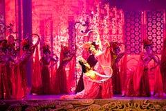 Slottdansarna--Den historiska magiska magin för stilsång- och dansdrama - Gan Po Arkivfoto