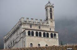 "Slottdei Consoli i Gubbio †""Italien Arkivbilder"
