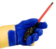 Slotted screwdriver isolated with path Royalty Free Stock Photo