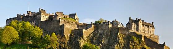 slottedinburgh panorama scotland arkivbilder