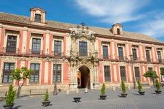 Slotten av ärkebiskoparna i Seville Spanien royaltyfria bilder