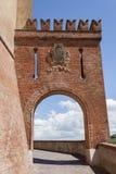 Slotten av Barolo, Piedmont arkivbild