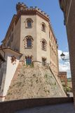 Slotten av Barolo, Piedmont royaltyfria foton