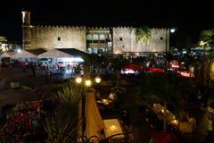 Slotten av Cortes och souvenir marknadsför, Cuernavaca, Mexico Arkivfoton