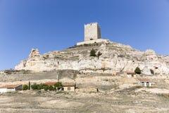 Slotten av den Langa de Duero staden Royaltyfri Bild