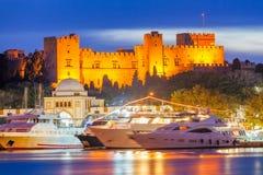 Slotten av den storslagna förlagen av riddarna av Rhodes Royaltyfri Foto