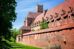 Slotten av den Teutonic beställningen i Malbork Arkivbilder
