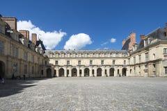 Slotten av Fontainebleau, Frankrike Royaltyfria Foton