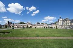 Slotten av Fontainebleau, Frankrike Arkivbild