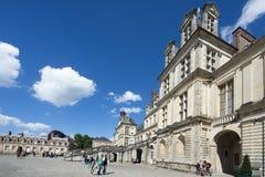 Slotten av Fontainebleau, Frankrike Royaltyfri Bild