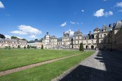 Slotten av Fontainebleau, Frankrike Arkivfoto