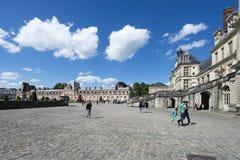 Slotten av Fontainebleau, Frankrike Royaltyfria Bilder
